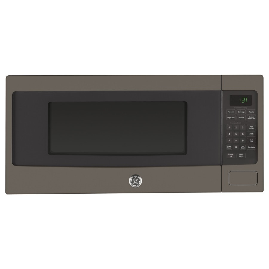 Shop GE Profile Series 1.1-cu ft 800-Watt Countertop Microwave (Slate ...