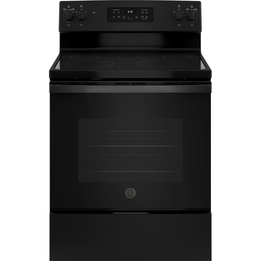 Black Electric Stove ~ Shop ge smooth surface freestanding cu ft self