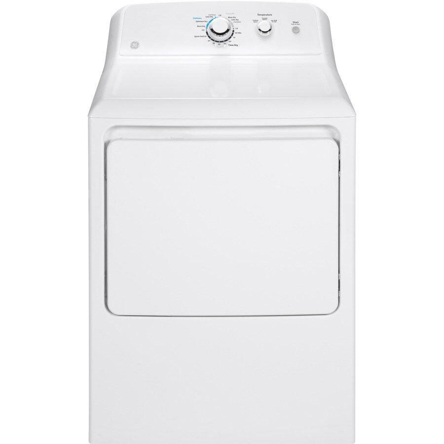 shop ge 7 2 cu ft gas dryer white at. Black Bedroom Furniture Sets. Home Design Ideas