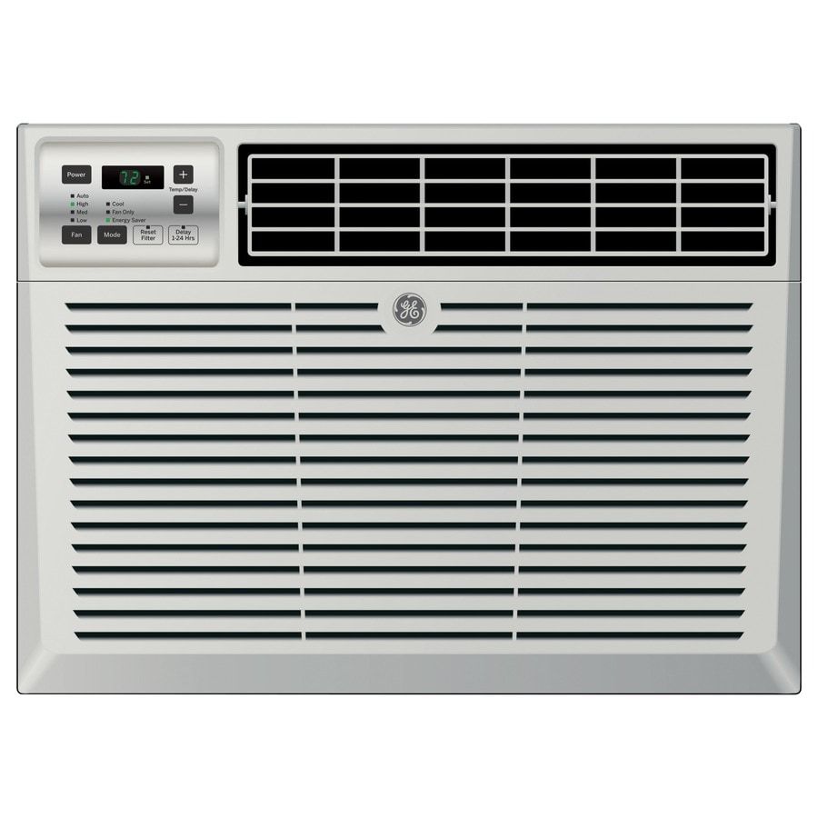 shop ge 10 000 btu 450 sq ft 115 volt window air