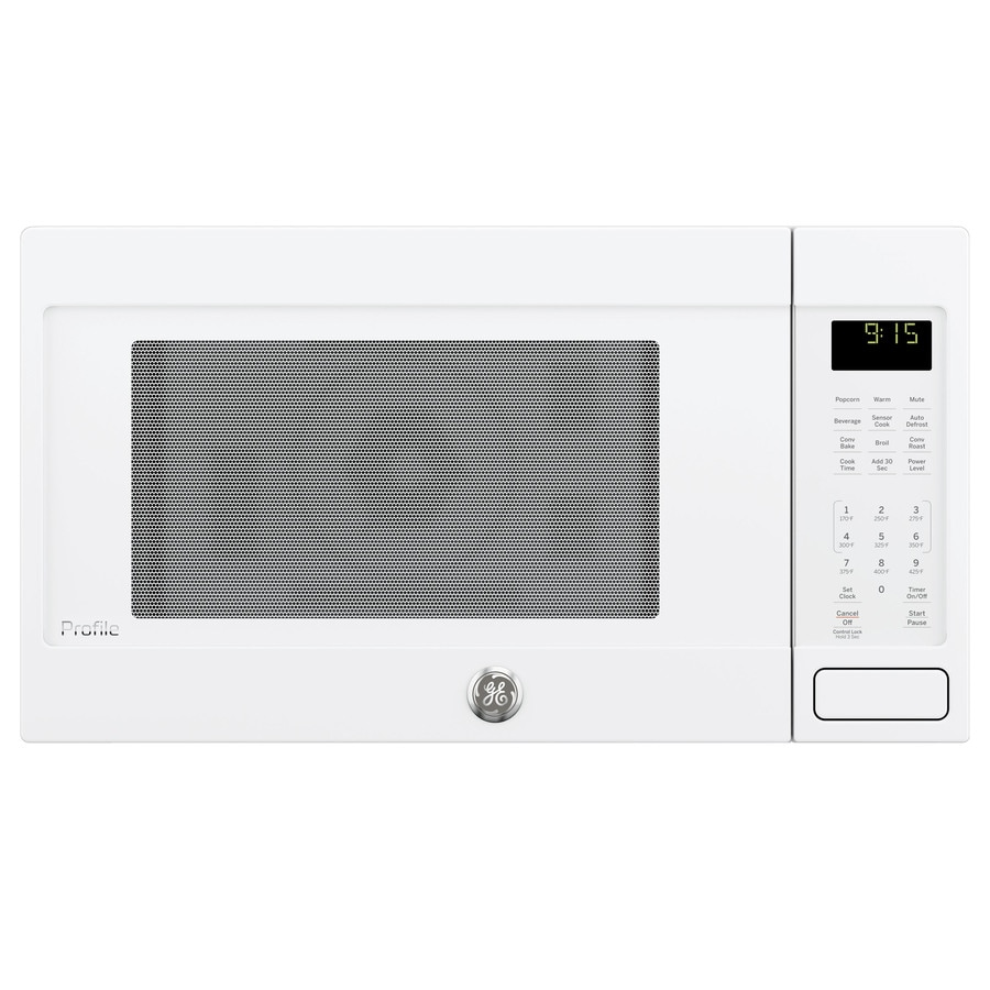 GE Profile Series 1.5-cu ft 1,000-Watt Countertop Convection Microwave (White)