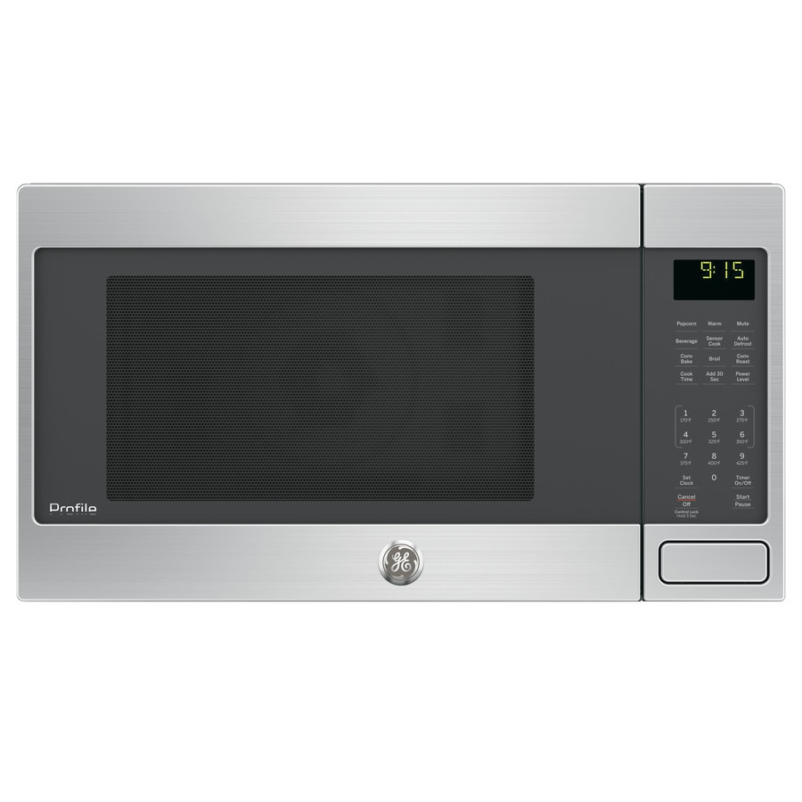 GE Profile Series 1.5-cu ft 1000-Watt Countertop Convection Microwave (Stainless Steel)