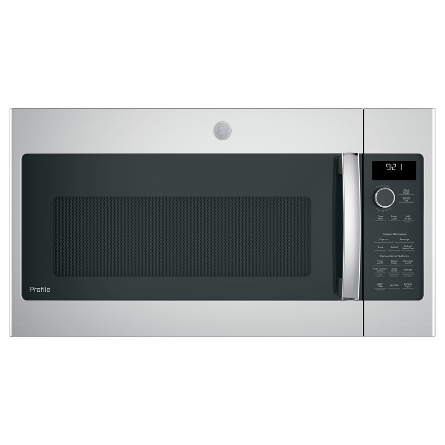 GE Profile Series 2.1-cu ft Over-the-Range Microwave with Sensor Cooking Controls (Stainless Steel) (Common: 30-in; Actual: 29.75-in)