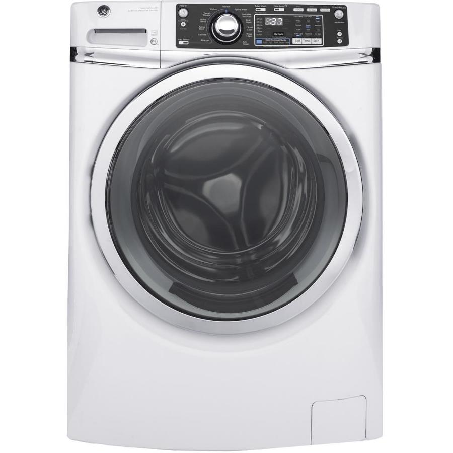 GE 4.9-cu ft High-Efficiency Stackable Front-Load Washer (White) ENERGY STAR