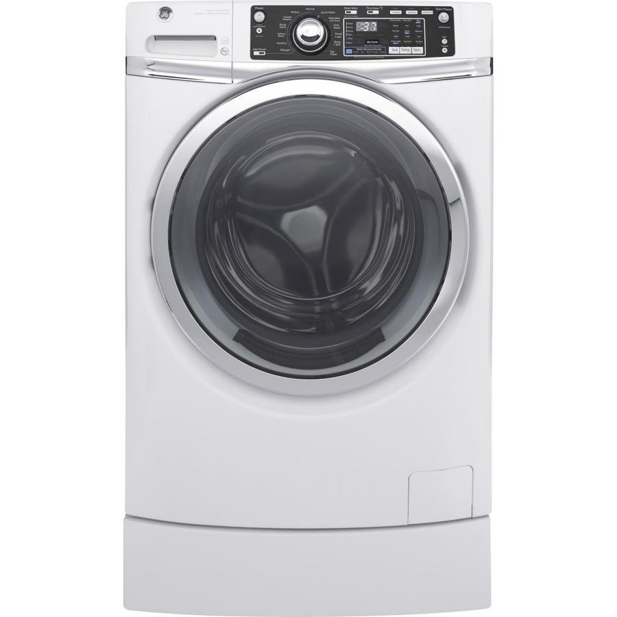 GE 4.9-cu ft High Efficiency Front-Load Washer (White) ENERGY STAR