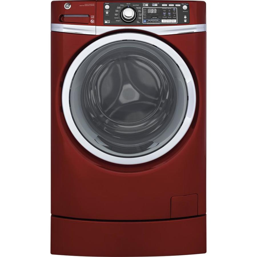 GE 4.9-cu ft High-Efficiency Front-Load Washer (Ruby Red) ENERGY STAR