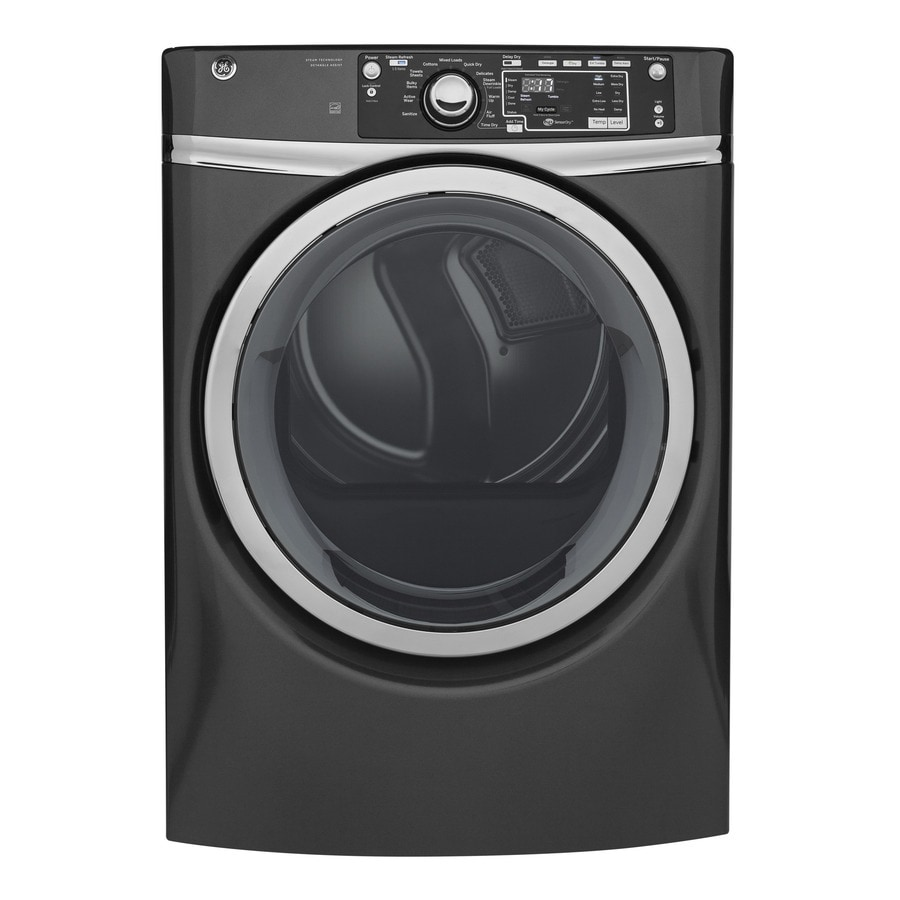 GE 8.3-cu ft Stackable Electric Dryer (Diamond Gray) ENERGY STAR