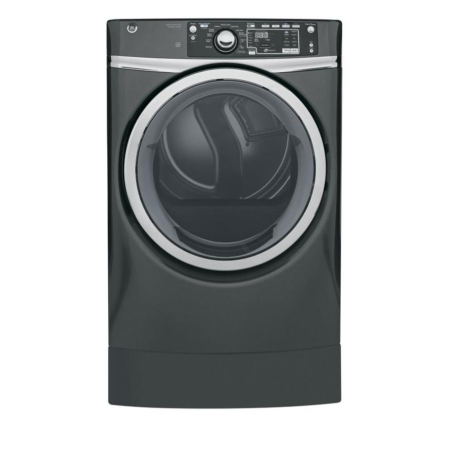 GE 8.3-cu ft Electric Dryer (Diamond Gray) ENERGY STAR