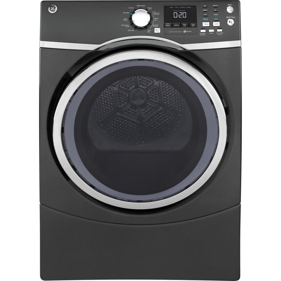 Shop Ge 7 5 Cu Ft Stackable Gas Dryer Diamond Gray At
