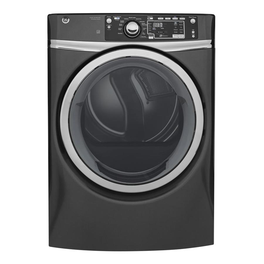 Ge 8 3 Cu Ft Stackable Gas Dryer Gray Energy Star At