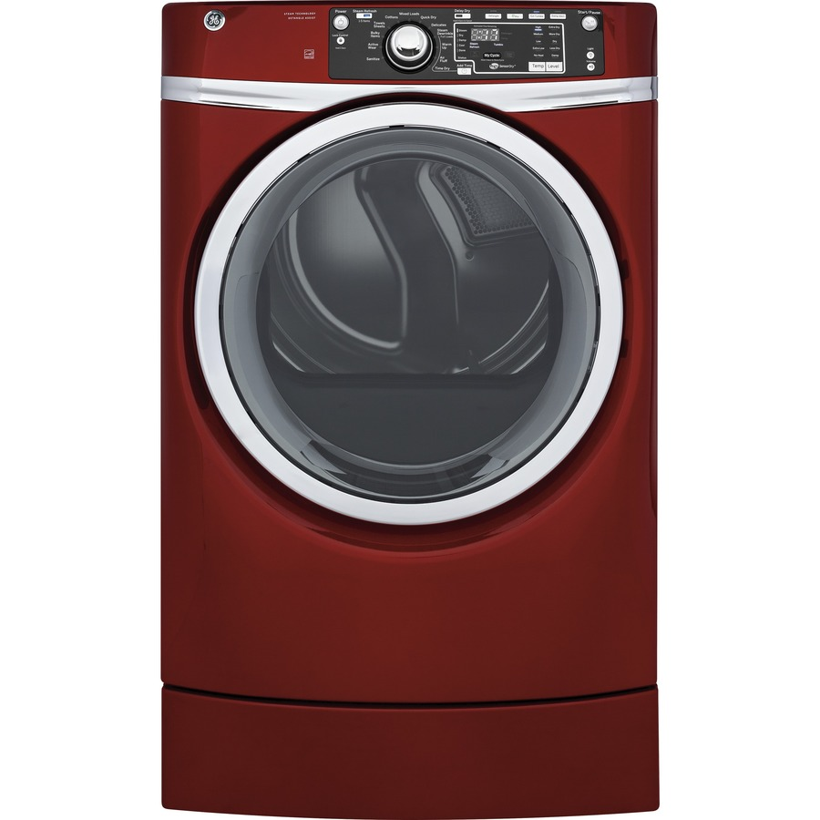 GE 8.3-cu ft Gas Dryer (Red) ENERGY STAR