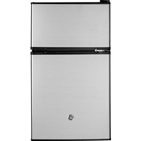 Marvelous GE 3.1 Cu Ft Freestanding Mini Fridge Freezer Compartment (CleanSteel)  ENERGY STAR