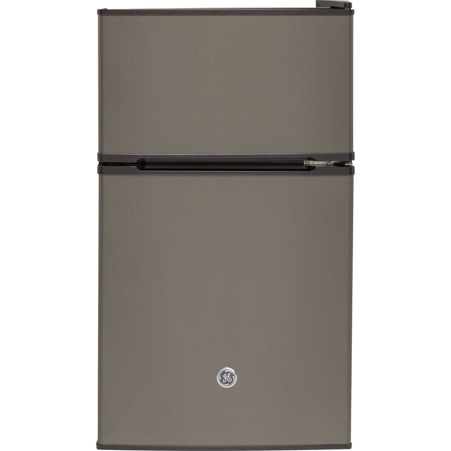Ge 3 1 Cu Ft Freestanding Compact Refrigerator With Freezer Compartment Slate Energy Star