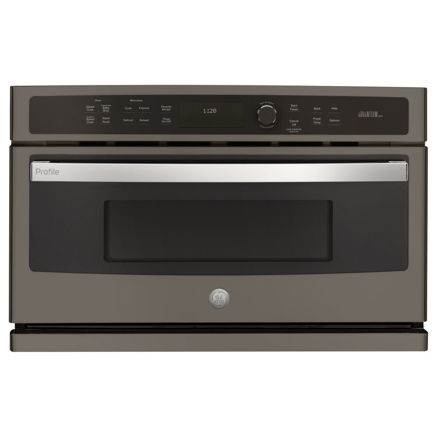 GE Profile Series Convection Single Electric Wall Oven (Slate) (Common: 30-in; Actual 29.75-in)
