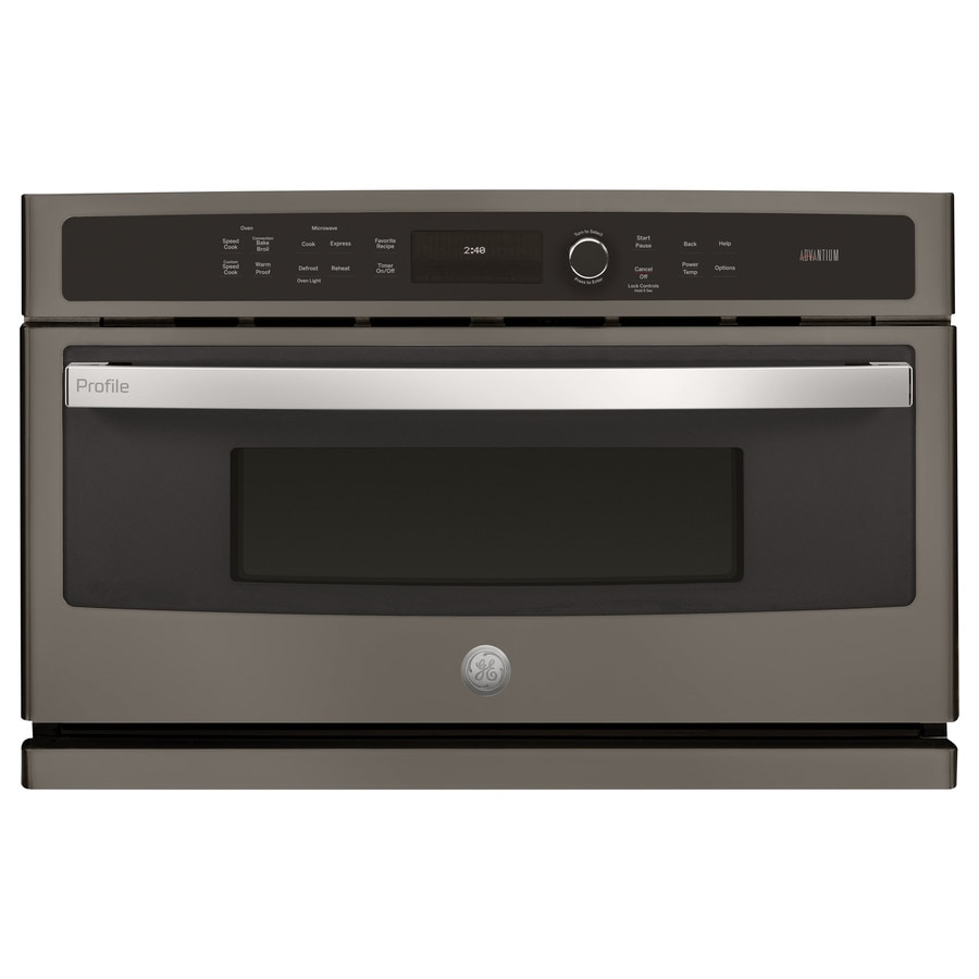 GE Profile Series Convection Single Electric Wall Oven (Slate) (Common: 30-in; Actual 29.7812-in)