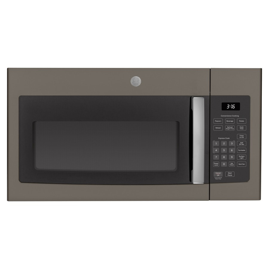 GE 1.6-cu ft Over-the-Range Microwave (Fingerprint-Resistant Slate) (Common: 30-in; Actual: 29.875-in)