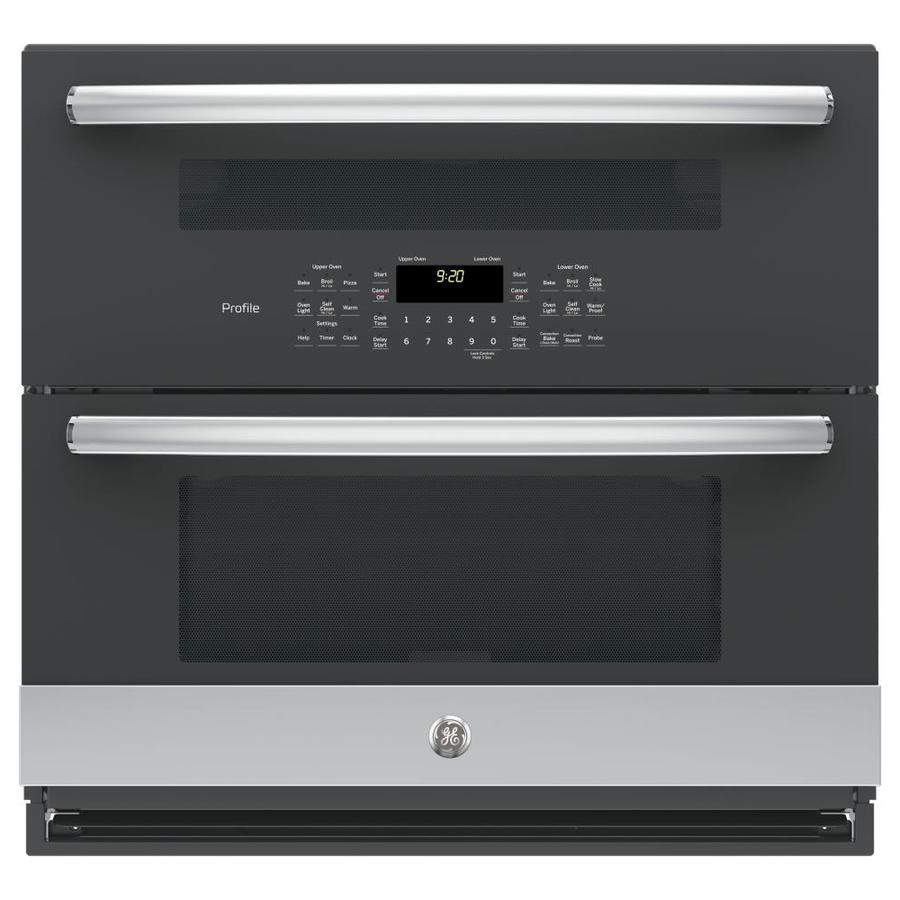 GE Profile Profile Self-Cleaning Convection Double Electric Wall Oven (Stainless Steel) (Common: 30-in; Actual: 29.75-in)