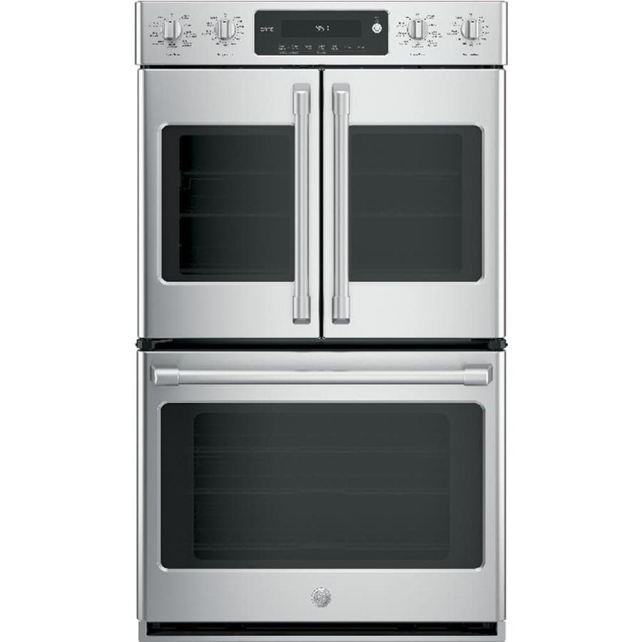 GE Cafe Self-Cleaning Convection Double Electric Wall Oven (Stainless Steel) (Common: 30-in; Actual: 29.75-in)