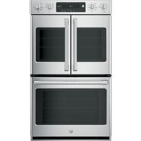 Ge Cafe Self Cleaning True Convection Double Electric Wall Oven Stainless Steel