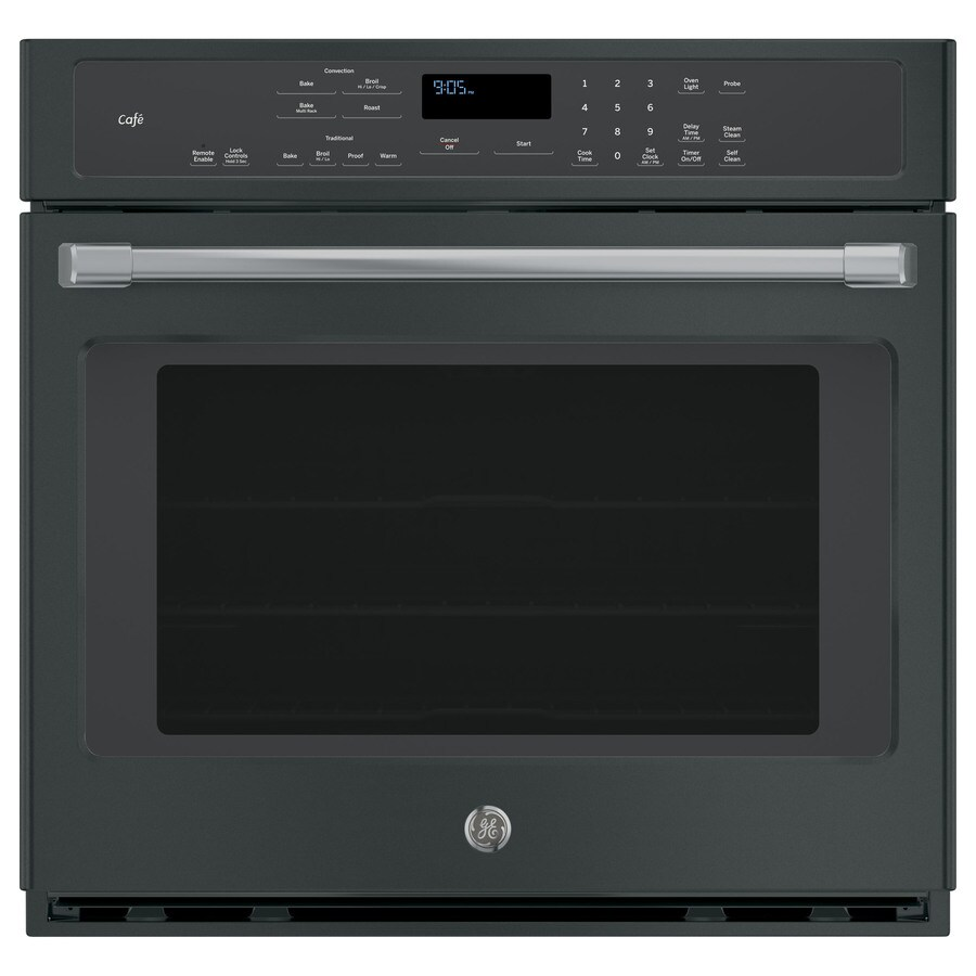 GE Cafe Self-Cleaning Convection Single Electric Wall Oven (Black Slate) (Common: 30-in; Actual 29.75-in)