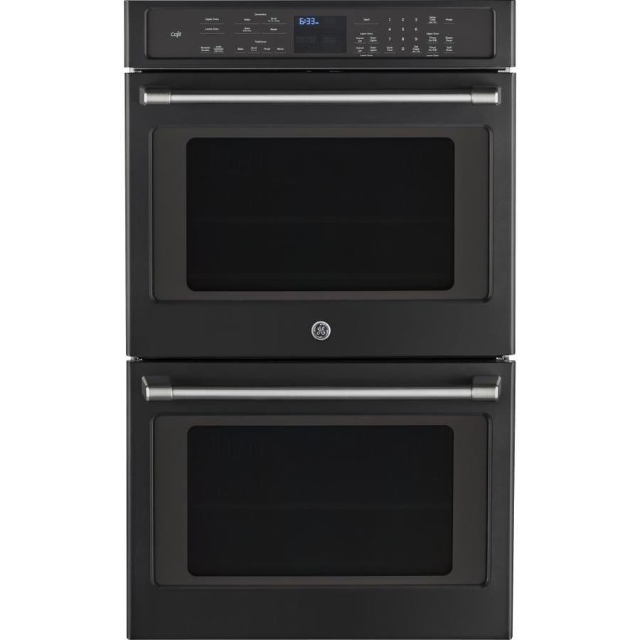 GE Cafe Self-Cleaning Convection Double Electric Wall Oven (Black Slate) (Common: 30-in; Actual: 29.75-in)