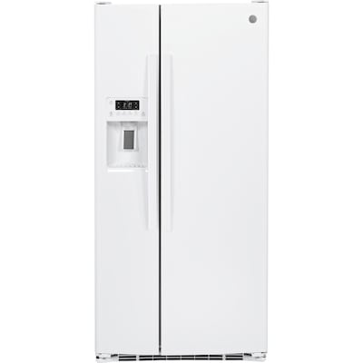 GE 23 2-cu ft Side-by-Side Refrigerator with Ice Maker