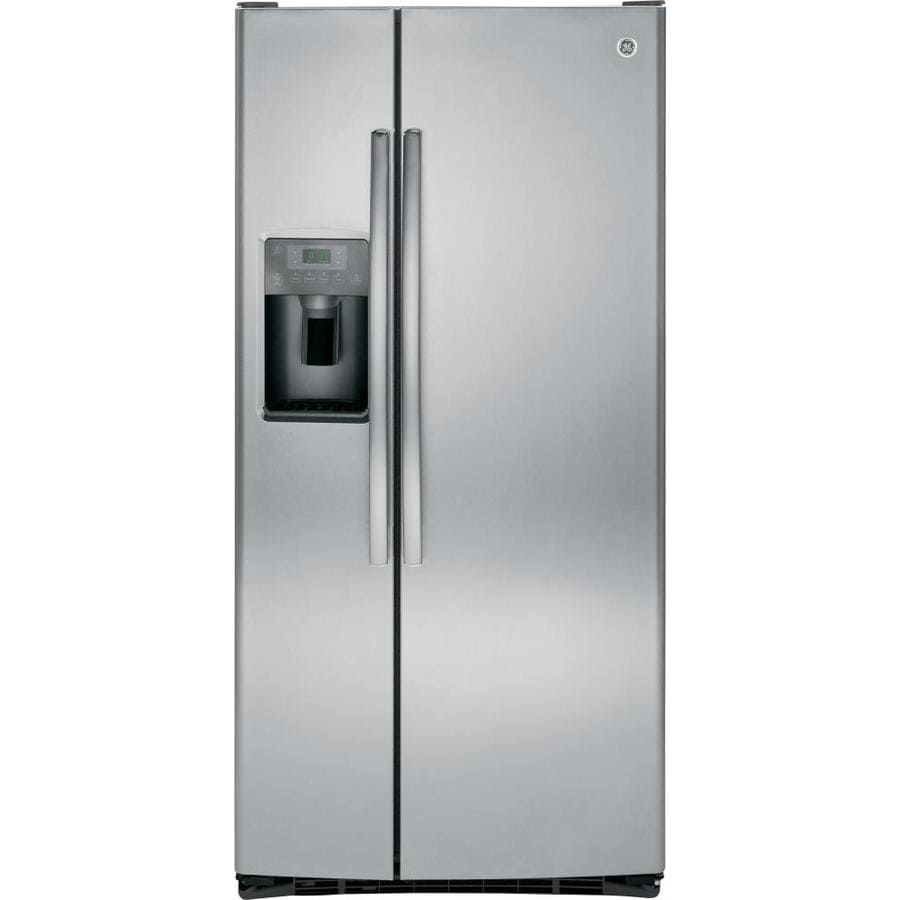 Shop Ge 23 2 Cu Ft Side By Side Refrigerator With Ice