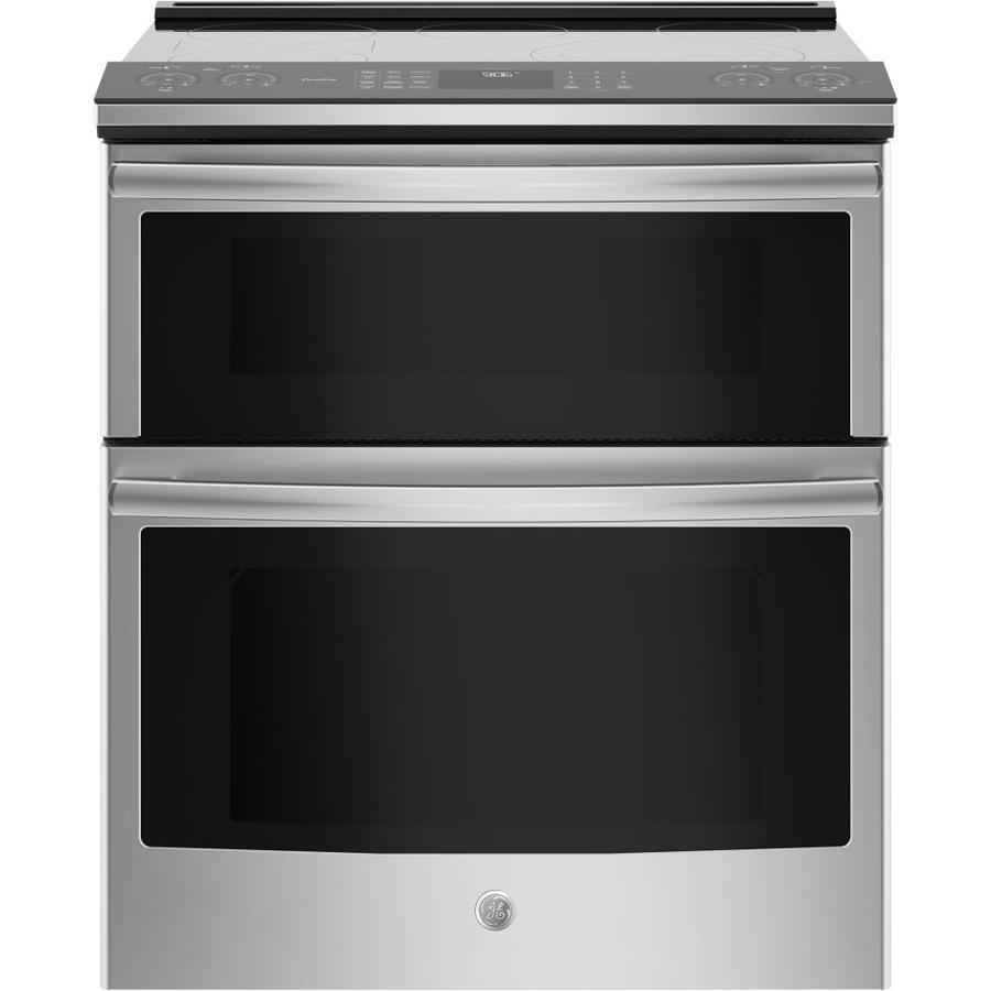 GE Profile Smooth Surface 5-Element Self-Cleaning Slide-in Convection Electric Range (Stainless Steel) (Common: 30; Actual: 29.875-in)
