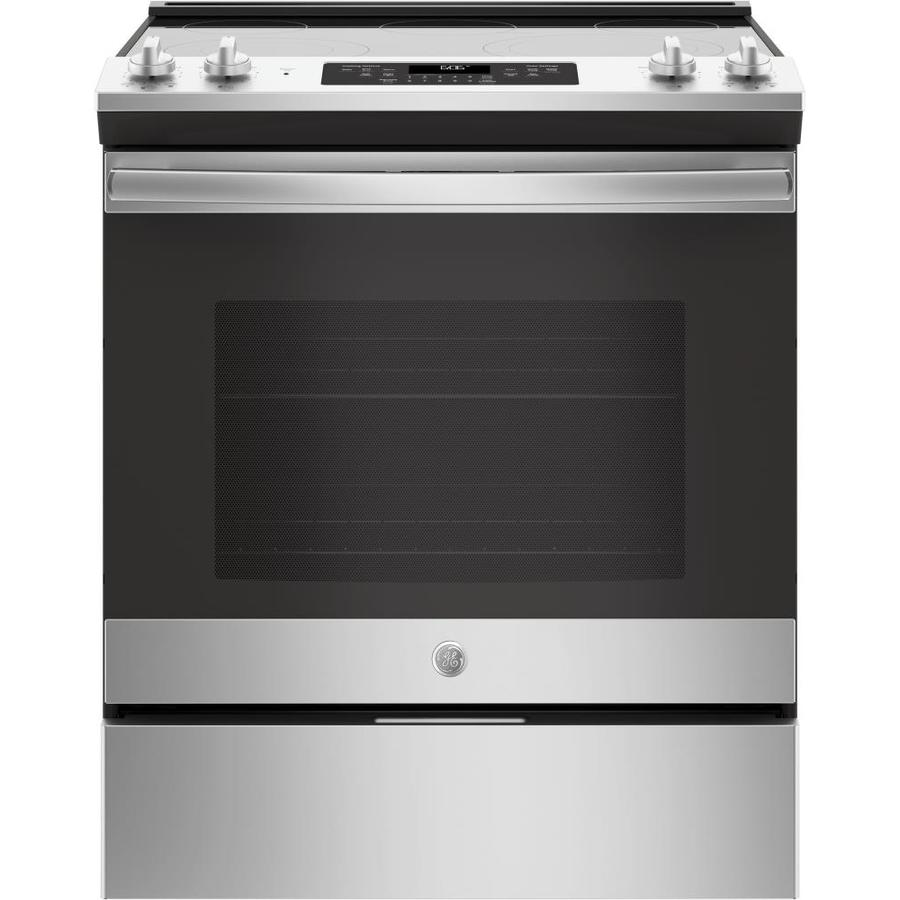 GE Smooth Surface 5-Element Self-Cleaning Slide-in Convection Electric Range (Stainless Steel) (Common: 30; Actual: 29.875-in)