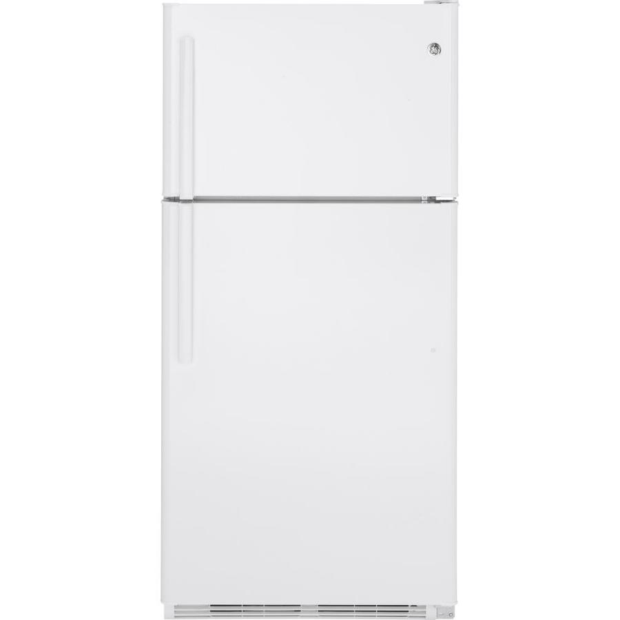Ge 20 8 Cu Ft Top Freezer Refrigerator White