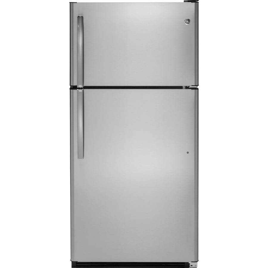 GE 20.8-cu ft Top-Freezer Refrigerator (Stainless Steel)