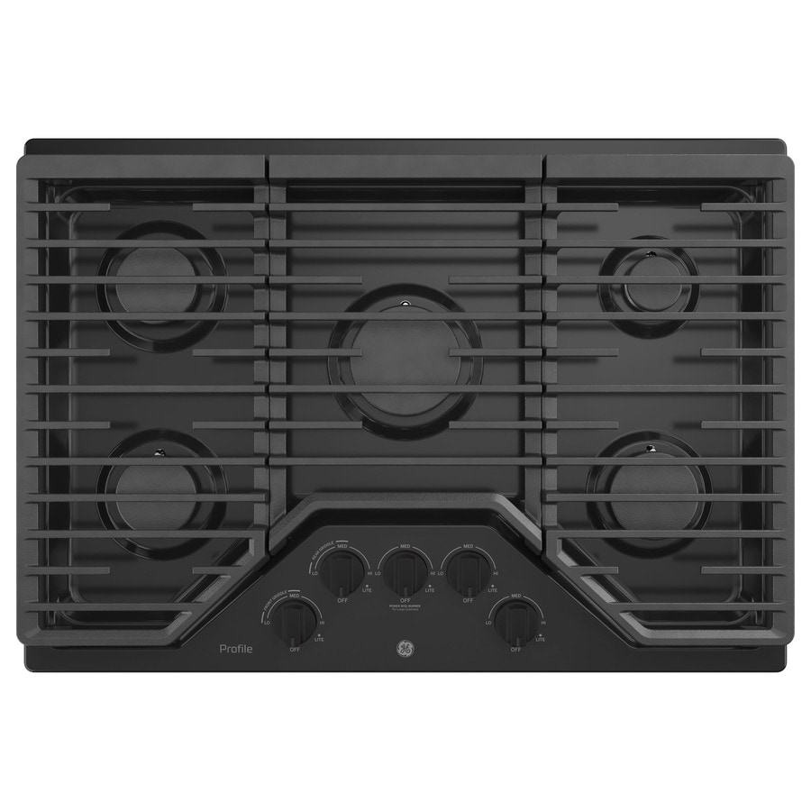 GE Profile 5-Burner Gas Cooktop (Black) (Common: 30 -in; Actual: 30-in)