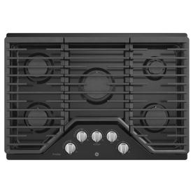 Gas Cooktop With Ge Profile 5burner Gas Cooktop black common 30 in Shop Cooktops At Lowescom