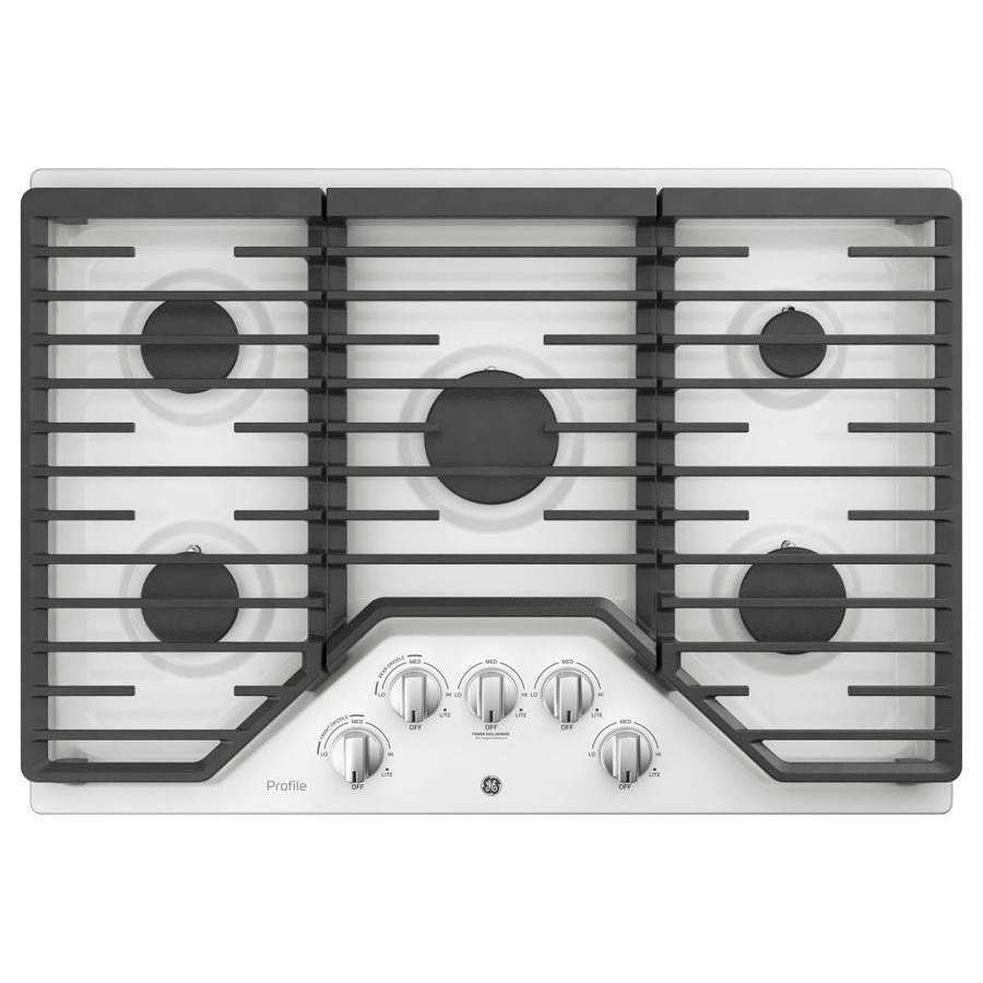 GE Profile 5-Burner Gas Cooktop (White) (Common: 30 -in; Actual: 30-in)