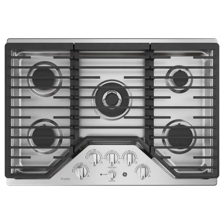 GE Profile 5-Burner Gas Cooktop (Stainless steel) (Common: 30 -in; Actual: 30-in)