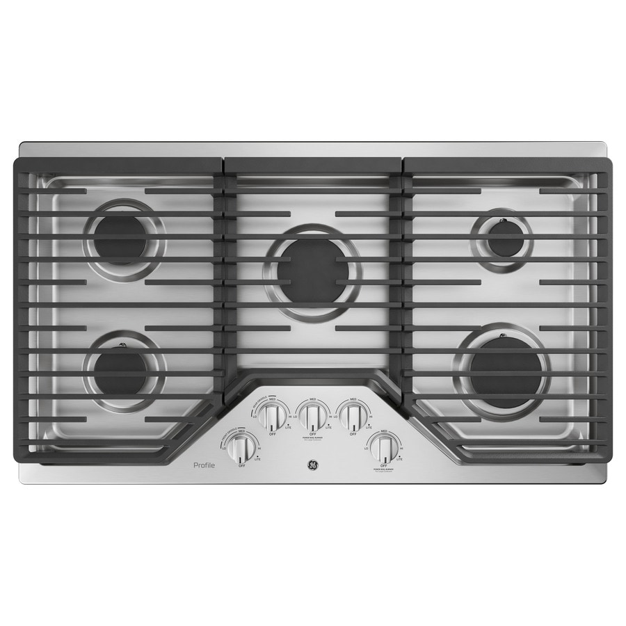 Ge Profile 5 Burner Gas Cooktop Stainless Steel Common 36
