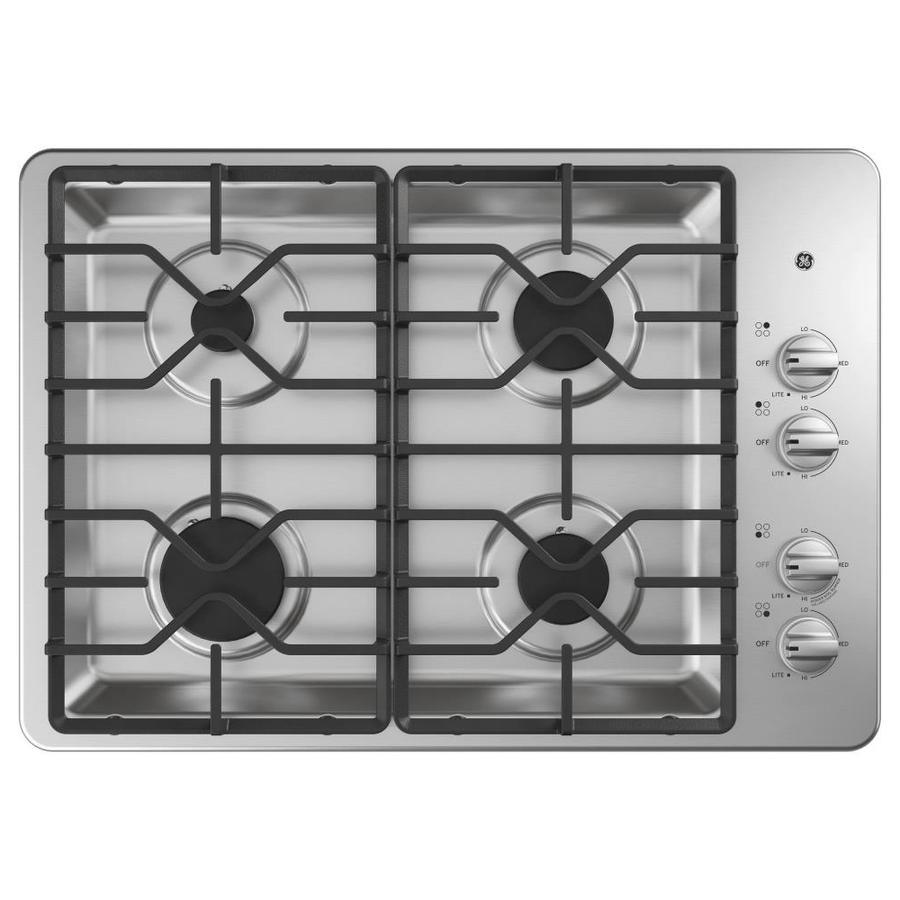 GE 30-in Stainless Steel Gas Cooktop (Common: 30-in