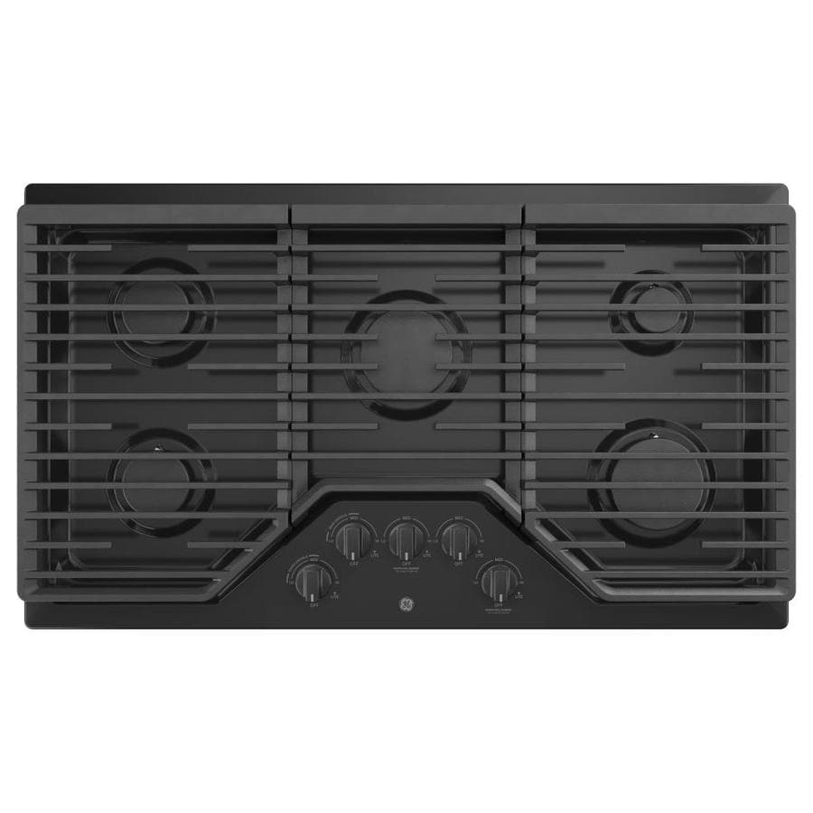 GE 5-Burner Gas Cooktop (Black) (Common: 36 -in; Actual: 36-in)