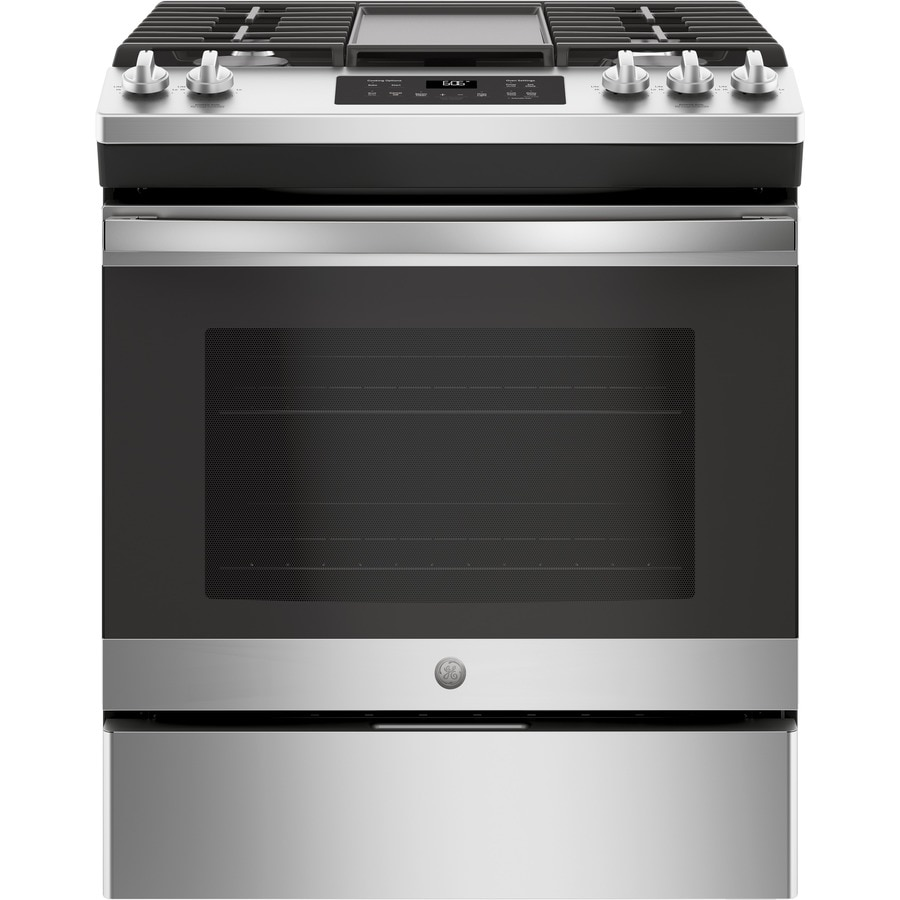 Ge 5 Burner Cu Ft Self Cleaning Slide In Gas Range