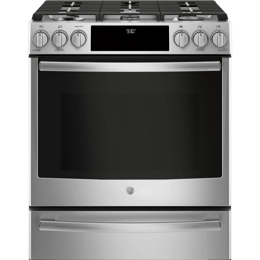GE Profile 5-Burner 5.7-cu ft Self-Cleaning True ...