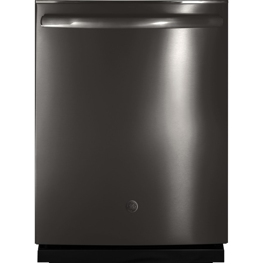 GE 46-Decibel Built-In Dishwasher with Bottle Wash and Hard Food Disposer (Black Stainless) (Common: 24-in; Actual: 23.75-in)