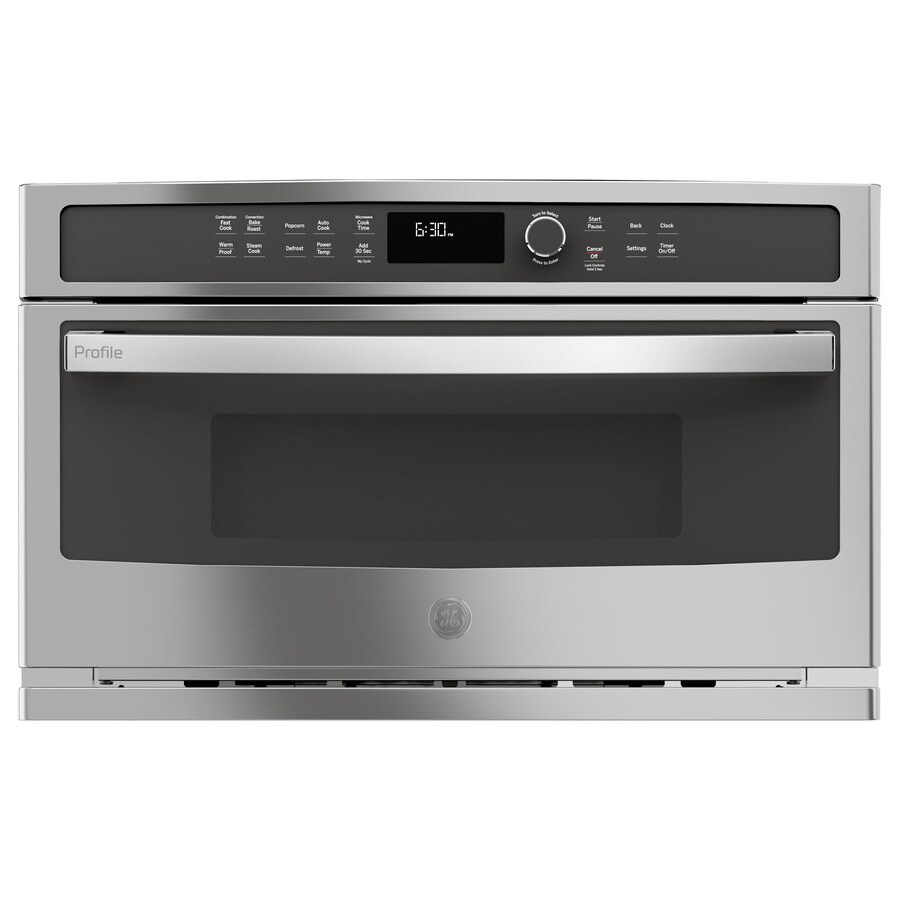 Ge Profile 1 7 Cu Ft Built In Convection Microwave With Sensor Cooking Controls And