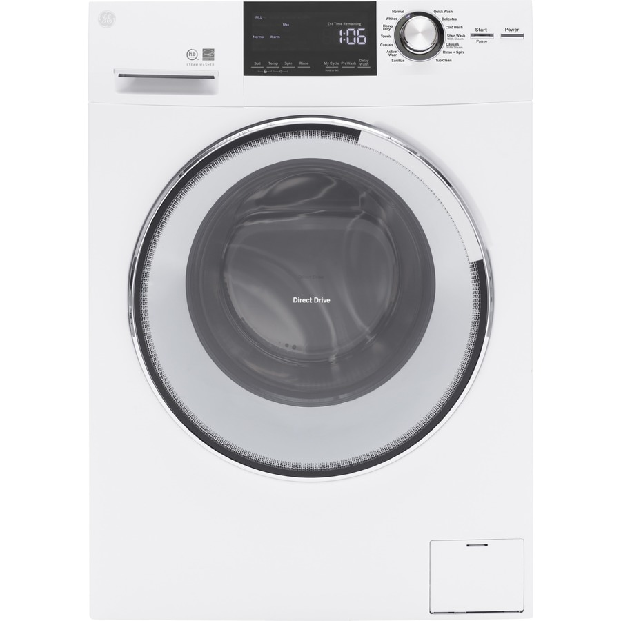 GE 2.4 Cu Ft High-Efficiency Stackable Front-Load Washer (White) ENERGY STAR
