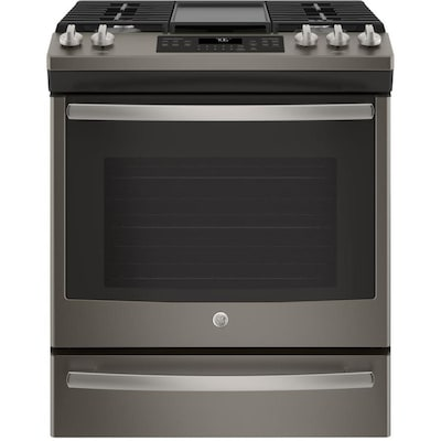 Stupendous Ge 5 Burner 5 6 Cu Ft Self Cleaning Convection Slide In Gas Download Free Architecture Designs Itiscsunscenecom