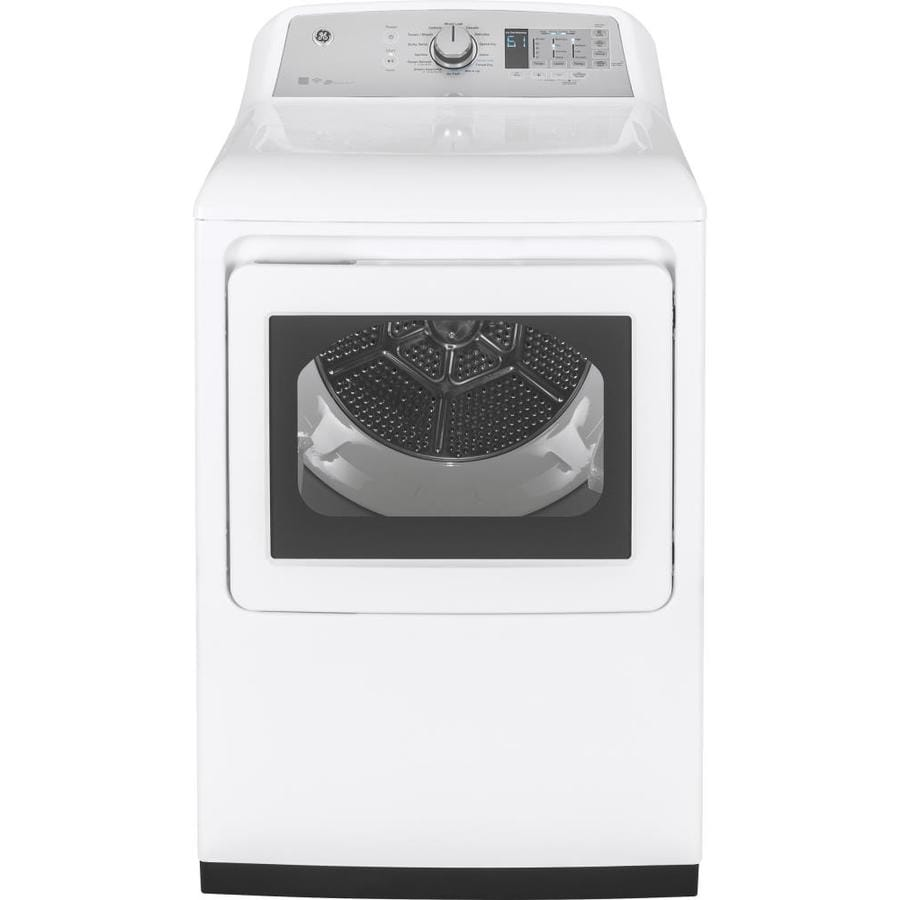 GE 7.4-cu ft Gas Dryer with Steam Cycles (White)
