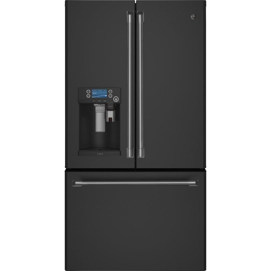 Counter Depth French Door Refrigerator >> Shop GE Cafe 22.2-cu ft Counter-Depth French Door Refrigerator with Ice Maker (Fingerprint ...
