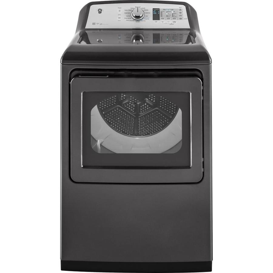 GE 7.4-cu ft Gas Dryer with Steam Cycles (Gray)