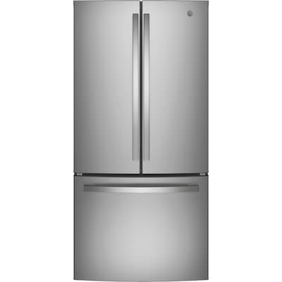 18.6-cu ft Counter-Depth French Door Refrigerator with Ice Maker (Stainless  Steel) ENERGY STAR