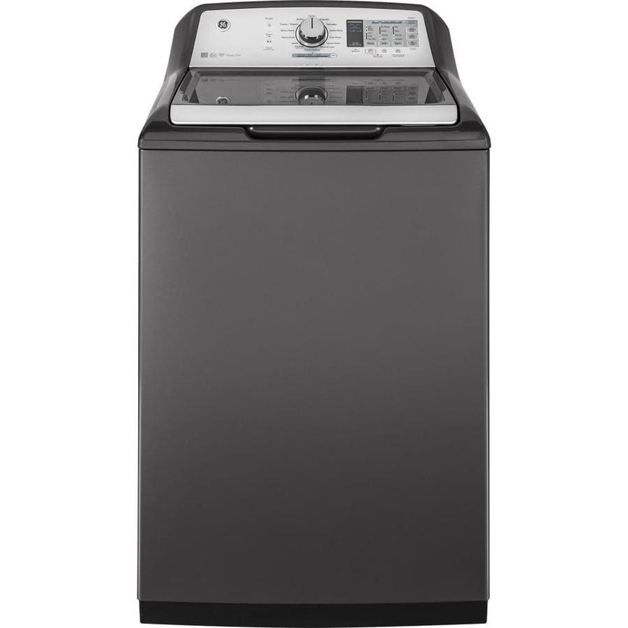 GE 5.0-cu ft High-Efficiency Top-Load Washer (Gray)