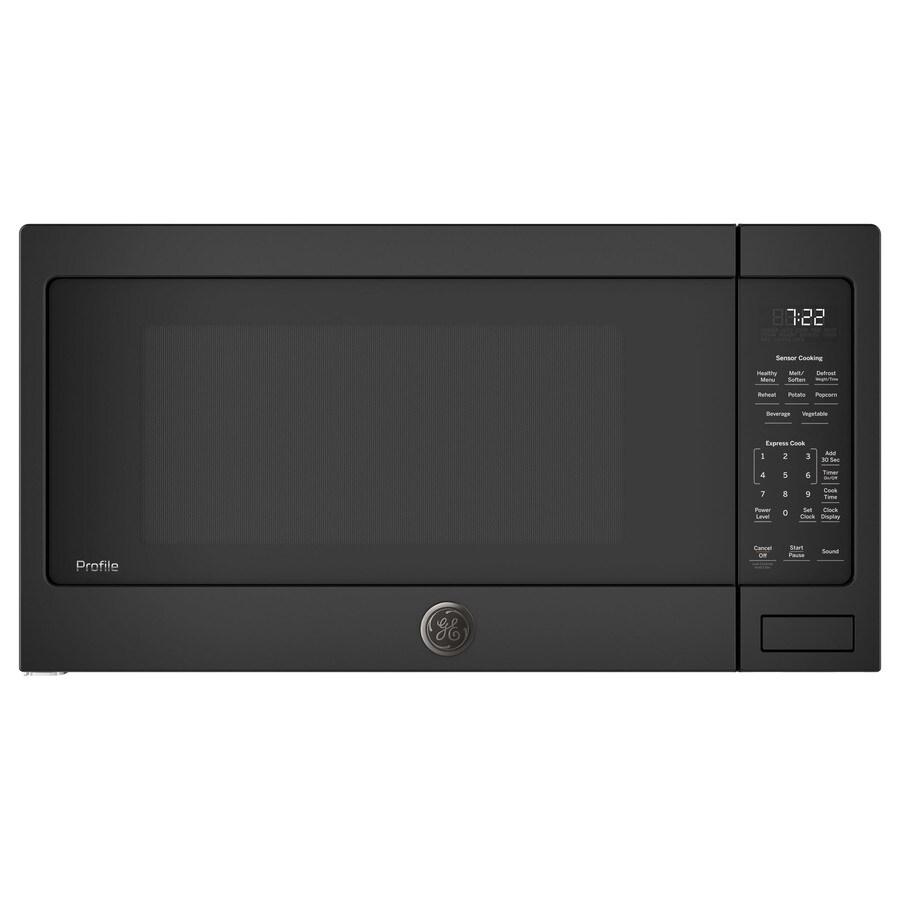GE Profile 2.2-cu ft 1100-Watt Countertop Microwave (Black)